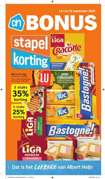 Albert Heijn reclame folder (geldig t/m 20-09)