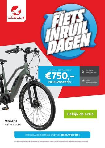 Stella fietsen reclame folder (geldig t/m 19-09)