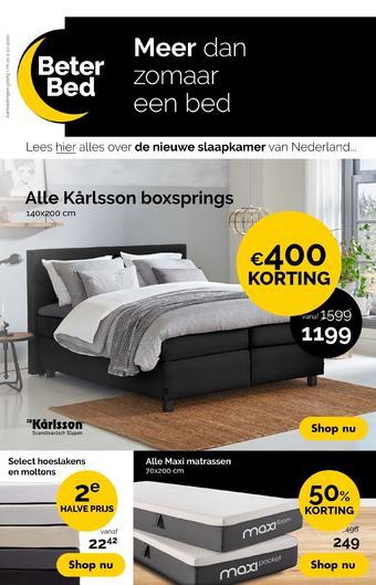 Beter Bed reclame folder (geldig t/m 04-10)