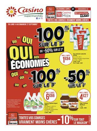 Casino Supermarchés catalogue publicitaire (valable jusqu'au 27-09)