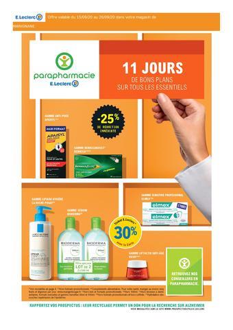 E.Leclerc Parapharmacie catalogue publicitaire (valable jusqu'au 26-09)