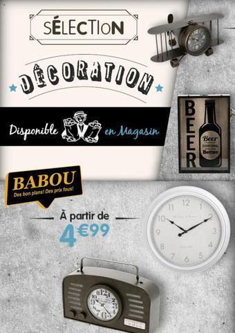 Babou catalogue publicitaire (valable jusqu'au 27-09)