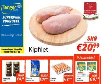 Tanger Markt reclame folder (geldig t/m 27-09)