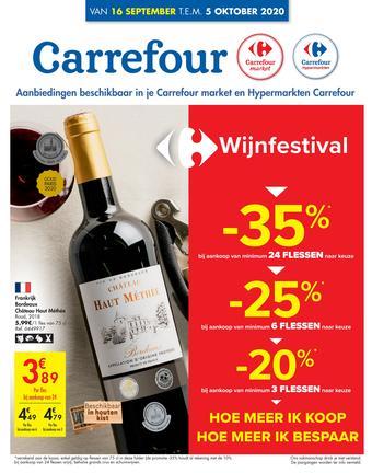 Carrefour Market reclame folder (geldig t/m 05-10)