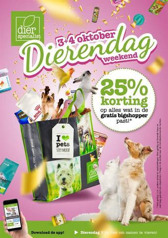Dierspecialist reclame folder (geldig t/m 04-10)