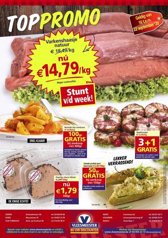Vleesmeester reclame folder (geldig t/m 22-09)