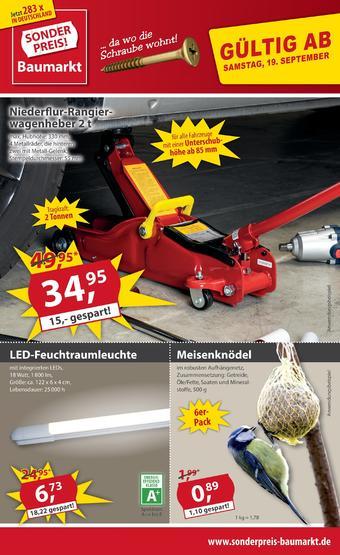 Sonderpreis Baumarkt Prospekt (bis einschl. 26-09)
