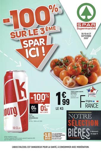 Spar catalogue publicitaire (valable jusqu'au 27-09)