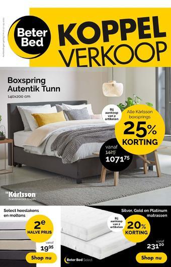 Beter Bed reclame folder (geldig t/m 27-09)
