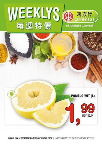 Amazing Oriëntal reclame folder (geldig t/m 22-09)