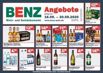 Benz Getränke Prospekt (bis einschl. 30-09)