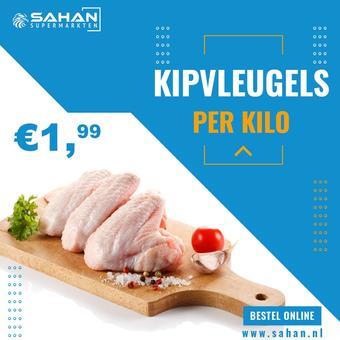 Sahan Supermarkten reclame folder (geldig t/m 27-09)
