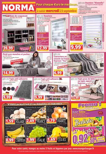 Norma catalogue publicitaire (valable jusqu'au 29-09)