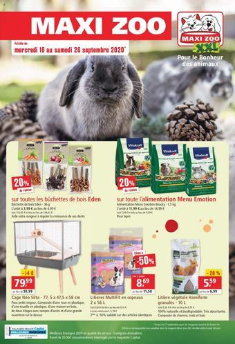 Maxi Zoo catalogue publicitaire (valable jusqu'au 26-09)