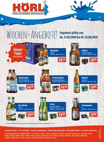 Hörl Getränke Prospekt (bis einschl. 23-09)