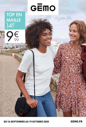 Gémo catalogue publicitaire (valable jusqu'au 19-10)