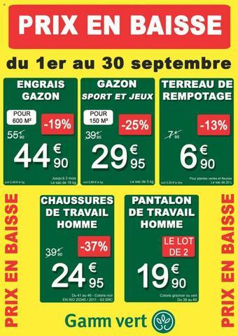 Gamm vert catalogue publicitaire (valable jusqu'au 30-09)