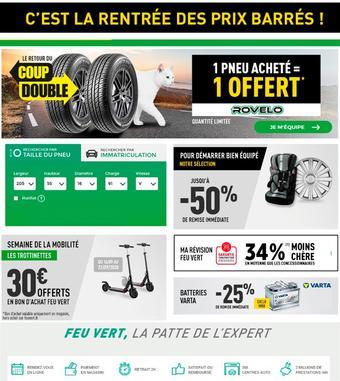 Feu Vert catalogue publicitaire (valable jusqu'au 19-10)