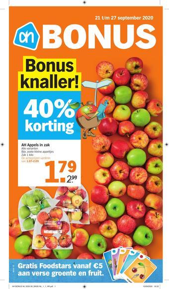 Albert Heijn reclame folder (geldig t/m 27-09)
