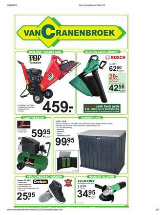 Van Cranenbroek reclame folder (geldig t/m 10-10)