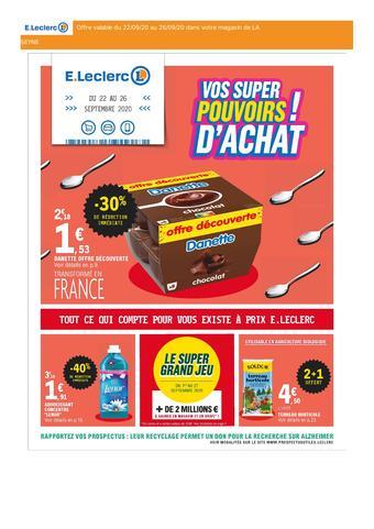 E.Leclerc catalogue publicitaire (valable jusqu'au 26-09)