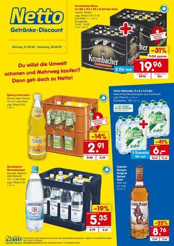 Netto Getränke Discount Prospekt (bis einschl. 26-09)