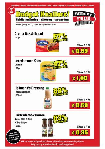 Budget Food reclame folder (geldig t/m 23-09)