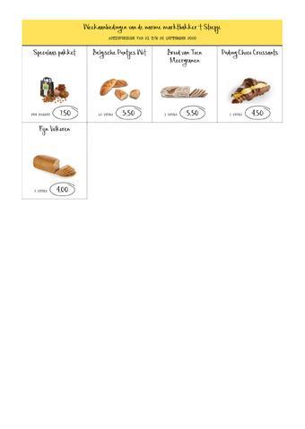 Bakkerij 't Stoepje reclame folder (geldig t/m 26-09)