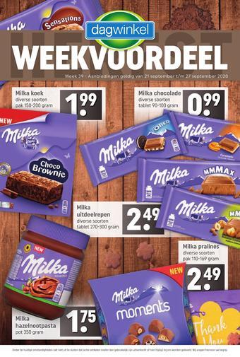 Dagwinkel reclame folder (geldig t/m 27-09)