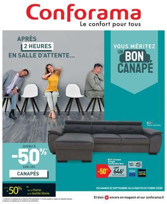 Conforama catalogue publicitaire (valable jusqu'au 19-10)