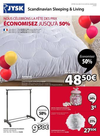 JYSK catalogue publicitaire (valable jusqu'au 28-09)
