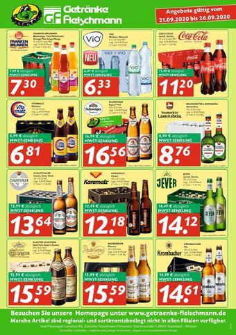 Getränke Fleischmann Prospekt (bis einschl. 26-09)