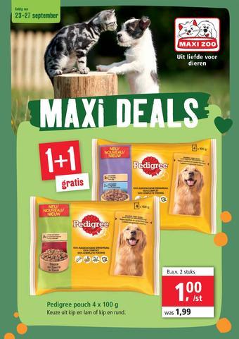 Maxi Zoo reclame folder (geldig t/m 27-09)