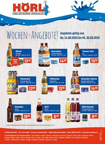 Hörl Getränke Prospekt (bis einschl. 30-09)