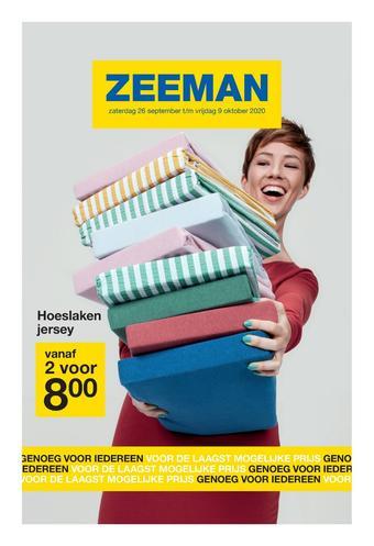 Zeeman reclame folder (geldig t/m 09-10)