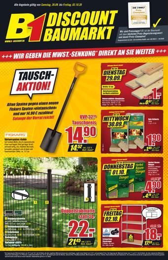 B1 Discount Baumarkt Prospekt (bis einschl. 02-10)