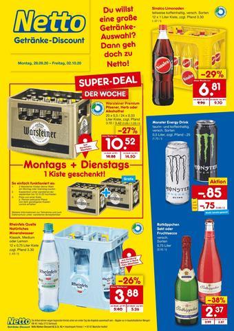 Netto Getränke Discount Prospekt (bis einschl. 03-10)