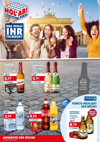 Hol'ab Getränkemarkt Prospekt (bis einschl. 02-10)