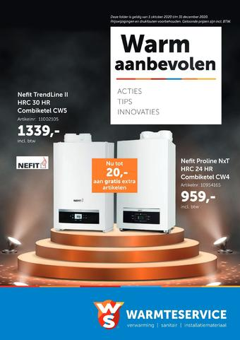 Warmteservice reclame folder (geldig t/m 31-12)