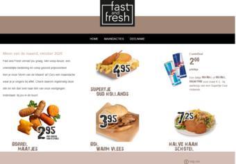 Fast and Fresh reclame folder (geldig t/m 31-10)