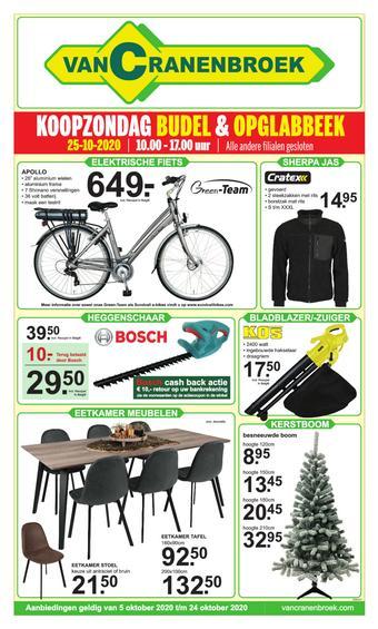 Van Cranenbroek reclame folder (geldig t/m 25-10)