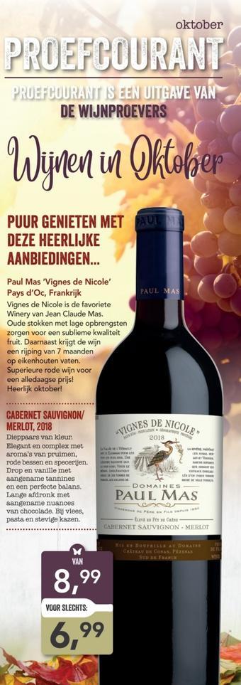 De Wijnproevers reclame folder (geldig t/m 30-11)