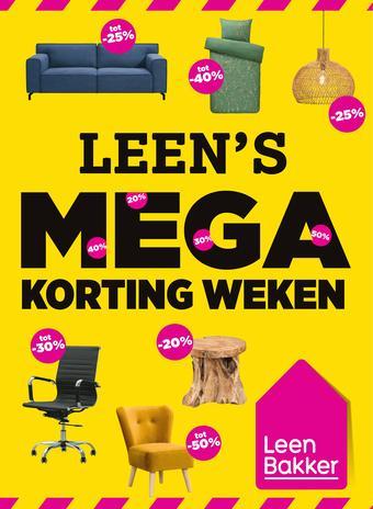 Leen Bakker reclame folder (geldig t/m 25-10)