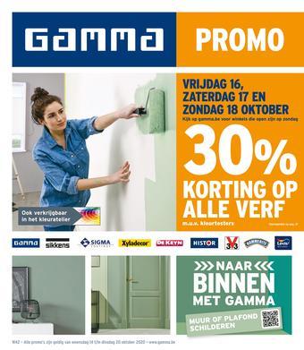 GAMMA reclame folder (geldig t/m 20-10)