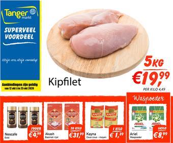 Tanger Markt reclame folder (geldig t/m 25-10)