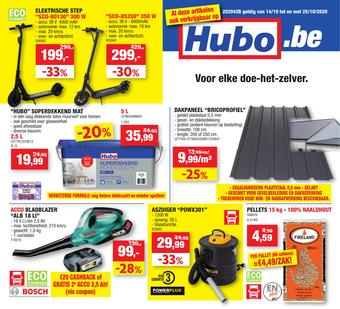 Hubo reclame folder (geldig t/m 25-10)