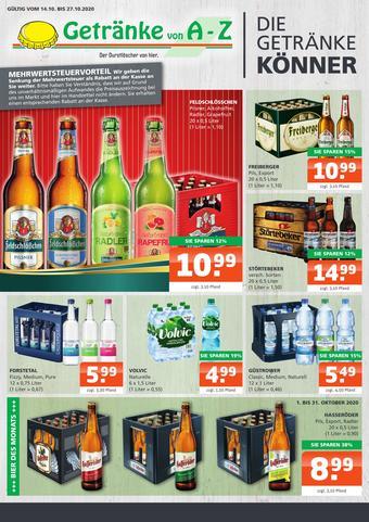 Getränke A-Z Prospekt (bis einschl. 27-10)