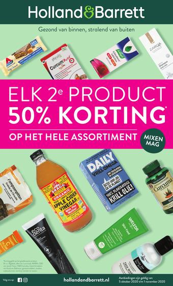 Holland & Barrett reclame folder (geldig t/m 01-11)