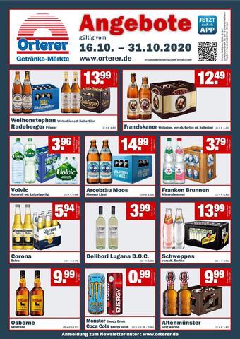 Orterer Getränkemarkt Prospekt (bis einschl. 31-10)
