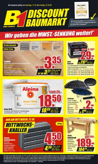 B1 Discount Baumarkt Prospekt (bis einschl. 23-10)